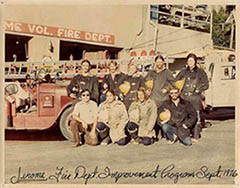 Jerome Volunteer Fire Department in the 70's
