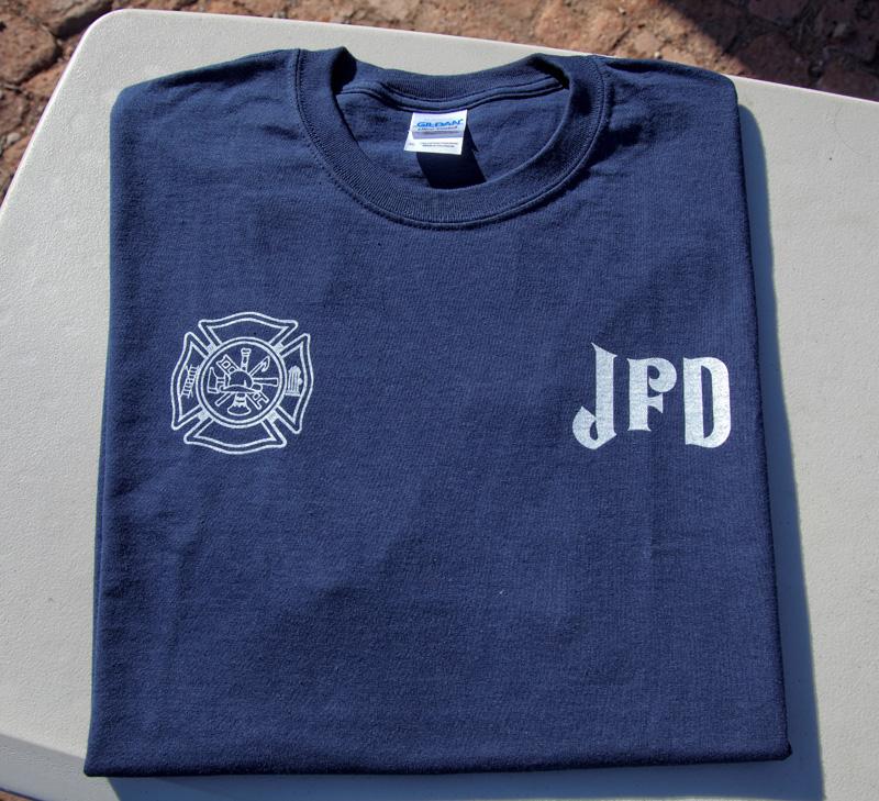 Jerome Volunteer Fire Department T Shirt Jerome Volunteer Fire