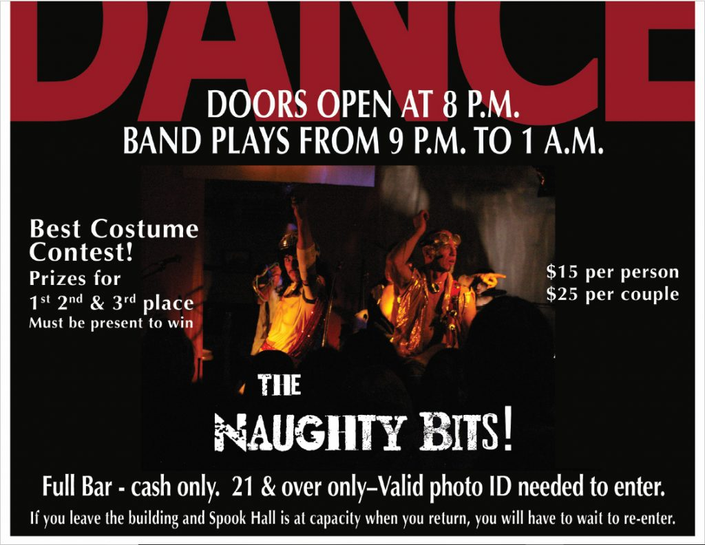 a portion of the 44th halloween dance poster