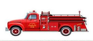an old classic fire truck