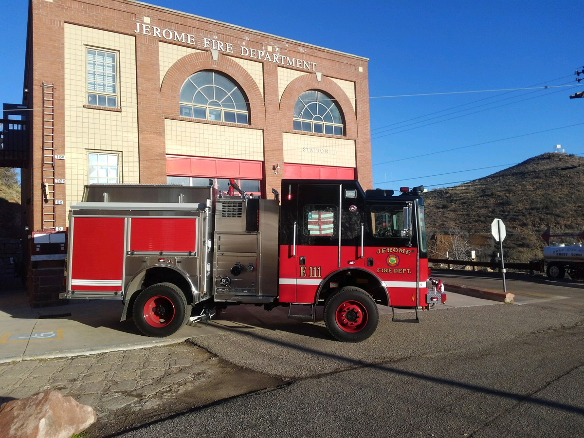new type 1 engine in front of the jerome fire department