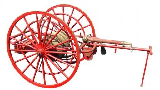 an old hose cart