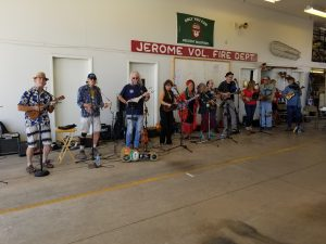 jerome ukulele orchestra performing at the 2018 jerome firewise community day