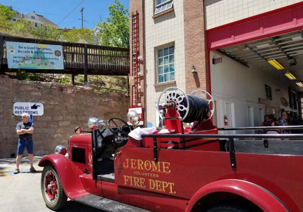 firewise community day with old jerome fire department 1928 Dodge Brothers Engine